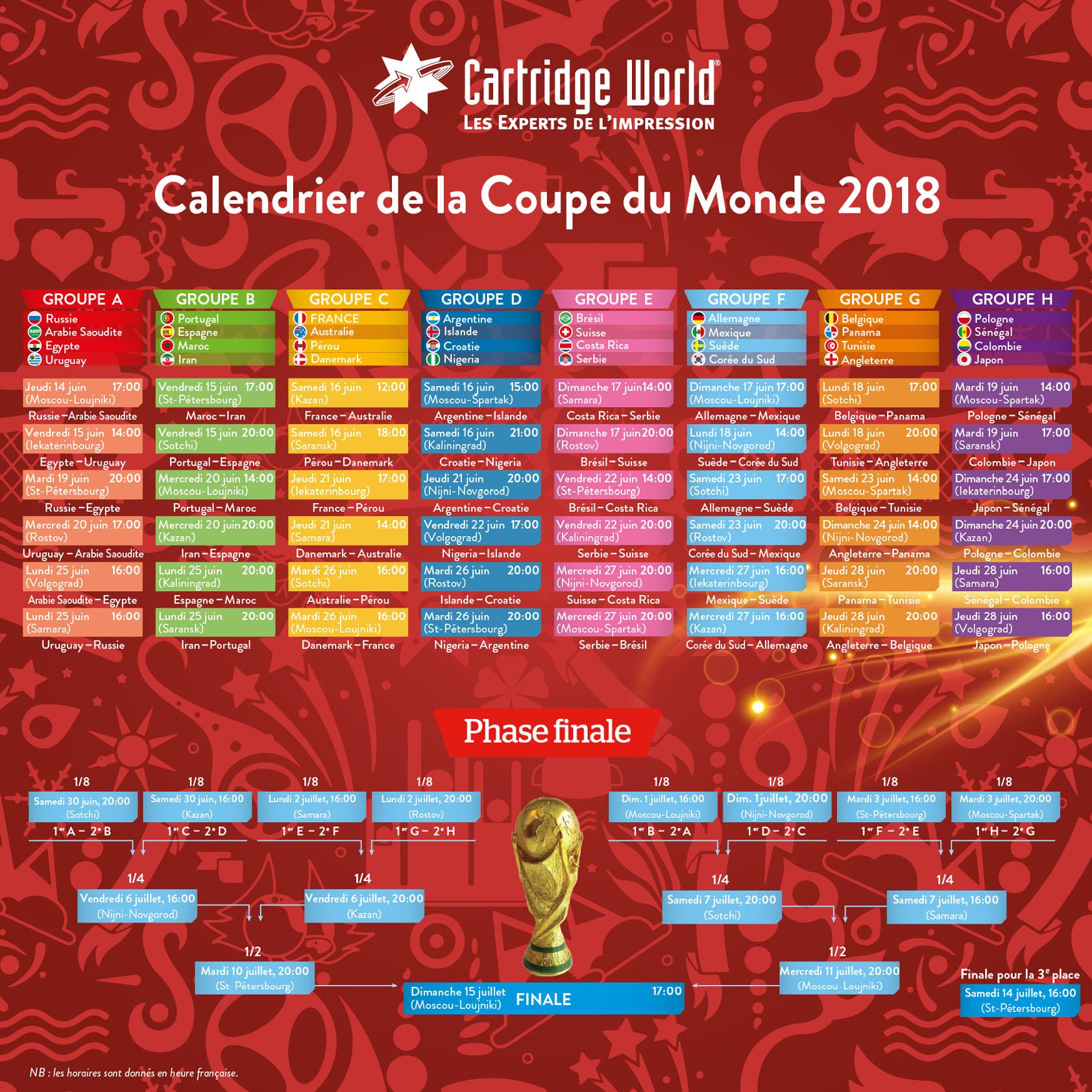 Calendrier_Coupe du Monde 2018